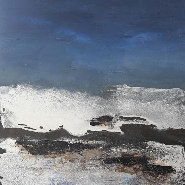 Nordsee,120x100, Mischtechnik auf Leinwand