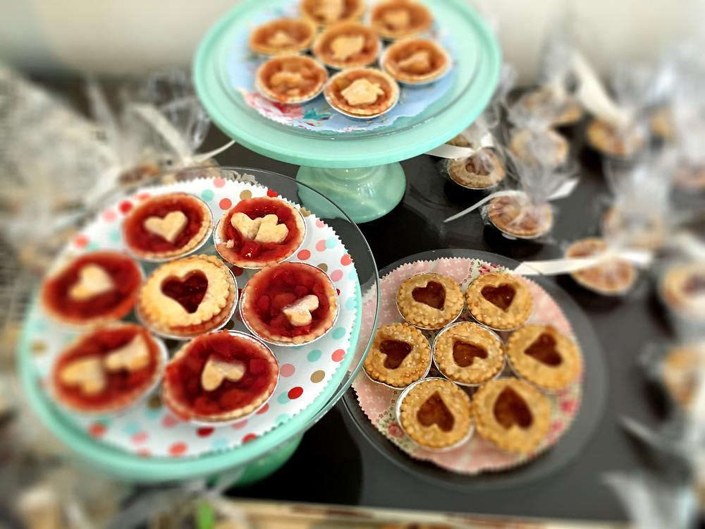 Tiny pies are ready for eating. Photo courtesy Reva Alexander-Hawk