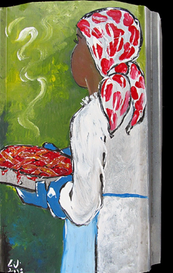 """Fresh Baked Cherry Pie"" is one in a series of painting dedicated to women."