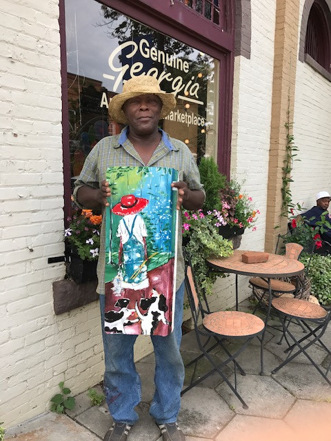 "Genuine Georgia selects noted artist Leonard Jones as ""Artist of the Month."""