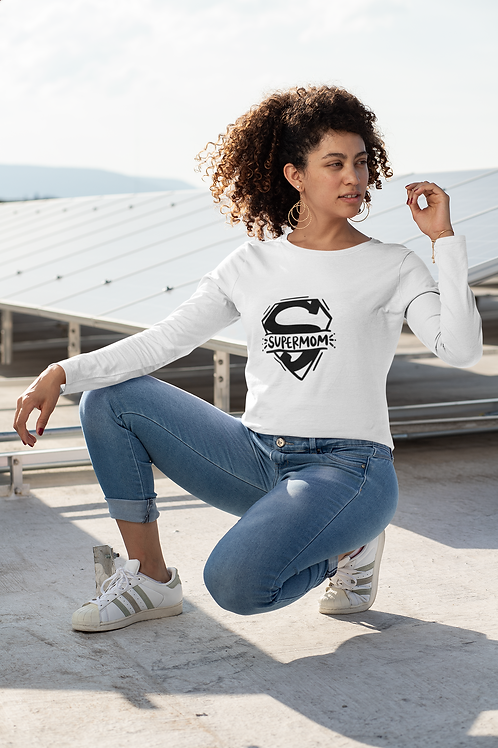 Super Mom Unisex Long Sleeve Tee