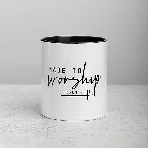 Made To Worship Mug with Color Inside