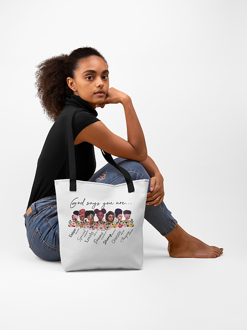 God Says You Are Tote bag