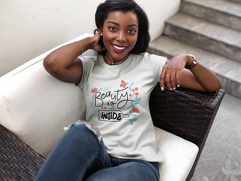 Beauty Is Inside Short-Sleeve Unisex T-Shirt