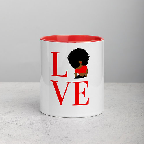 LOVE (Red) Mug with Color Inside