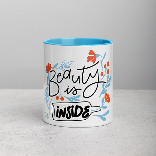 Beauty Is Inside Mug with Color Inside