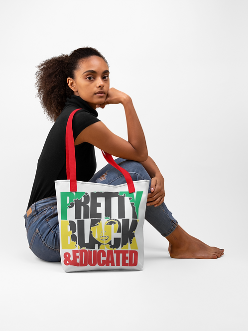 Pretty Black & Educated Tote bag