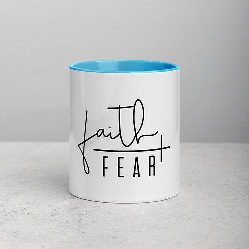 Faith / Fear Mug with Color Inside