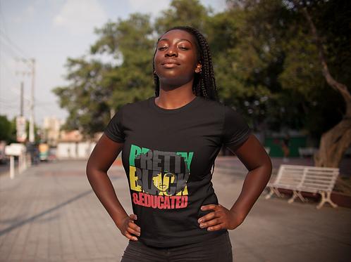 Pretty Black & Educated Short-Sleeve Unisex T-Shirt
