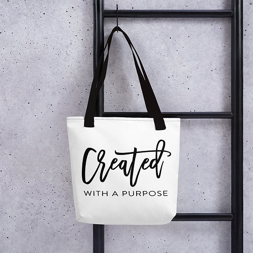 Created With A Purpose Tote bag