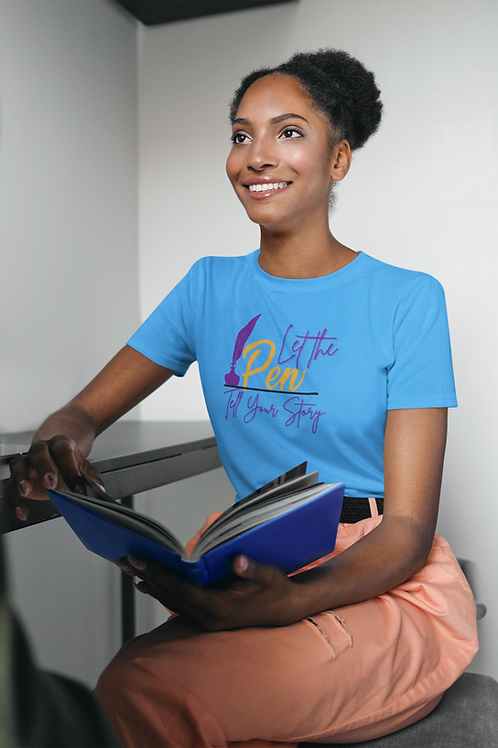 Let The Pen Tell Your Story (Purple) Short-Sleeve Unisex T-Shirt
