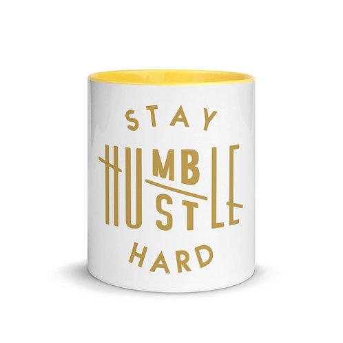 Stay Humble/Hustle Hard Mug with Color Inside