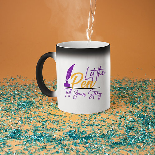 Let Your Pen Tell Your Story Glossy Magic Mug