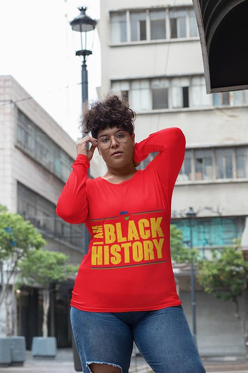 I Am Black History Unisex Long Sleeve Tee