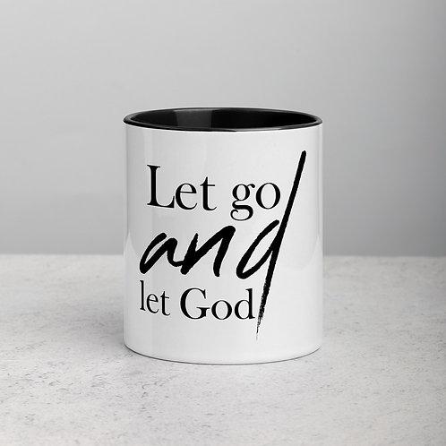 Let Go And Let God Mug with Color Inside