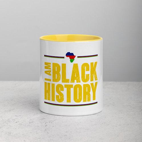 I Am Black History Mug with Color Inside