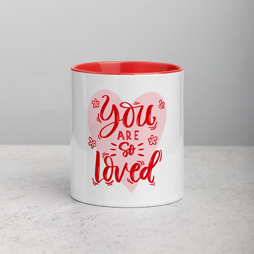 You Are So Loved Mug with Color Inside