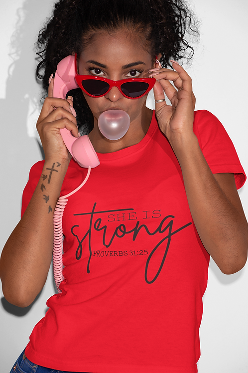 She Is Strong Short-Sleeve Unisex T-Shirt