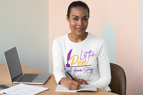Let The Pen Tell Your Story (Purple) Unisex Long Sleeve Tee