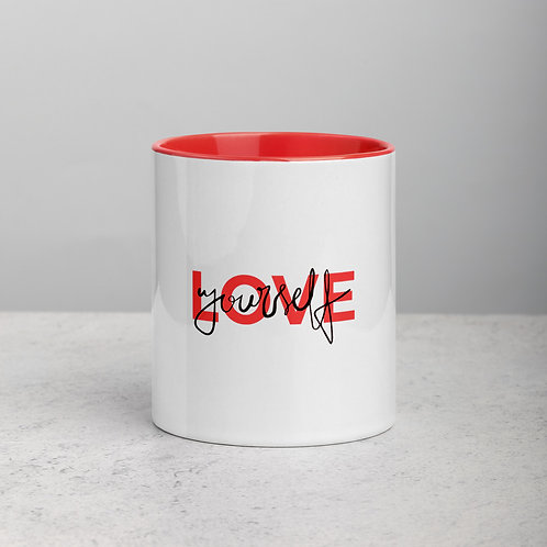 Love Yourself Mug with Color Inside