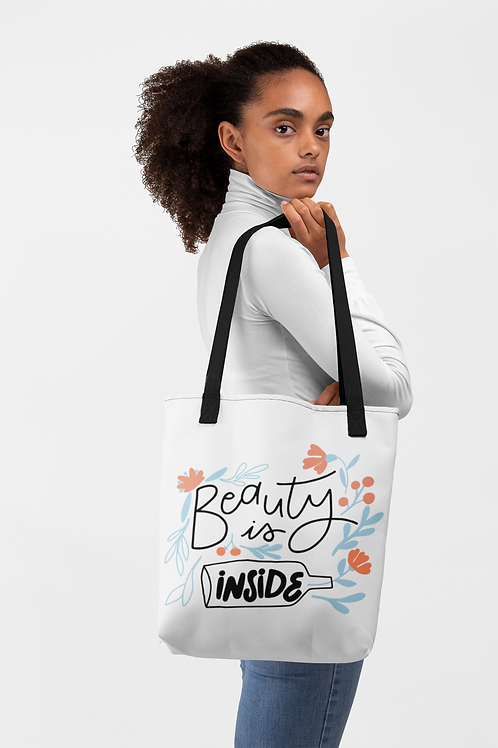 Beauty Is Inside Tote bag
