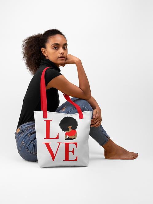 LOVE (Red) Tote bag