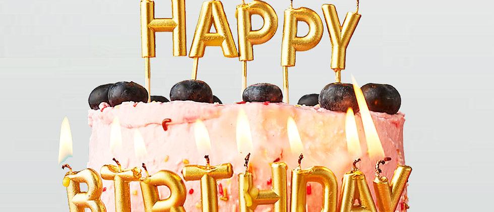 נרות לעוגה יום הולדת