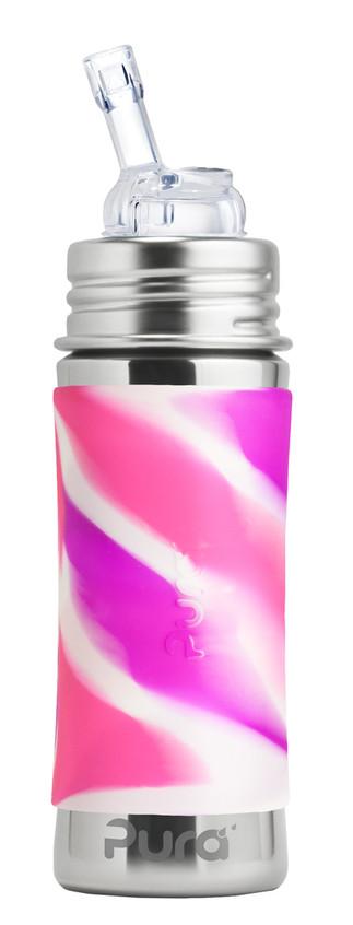 Pura-Kiki-11oz-MF-Straw-PinkSwirl