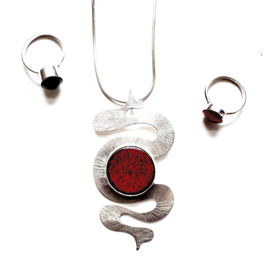 Snake Necklace and Rings