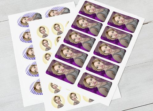 Digital Stylized Portrait + Stickers