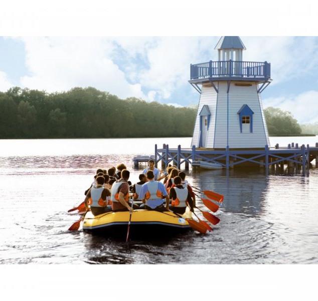 canoe sur le lac de l'ailette a center p