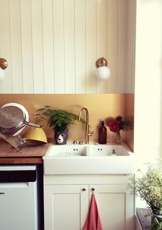 Evier de la cuisine maison sollier