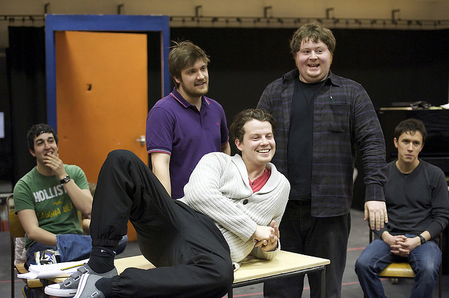 'The History Boys' in rehearsal