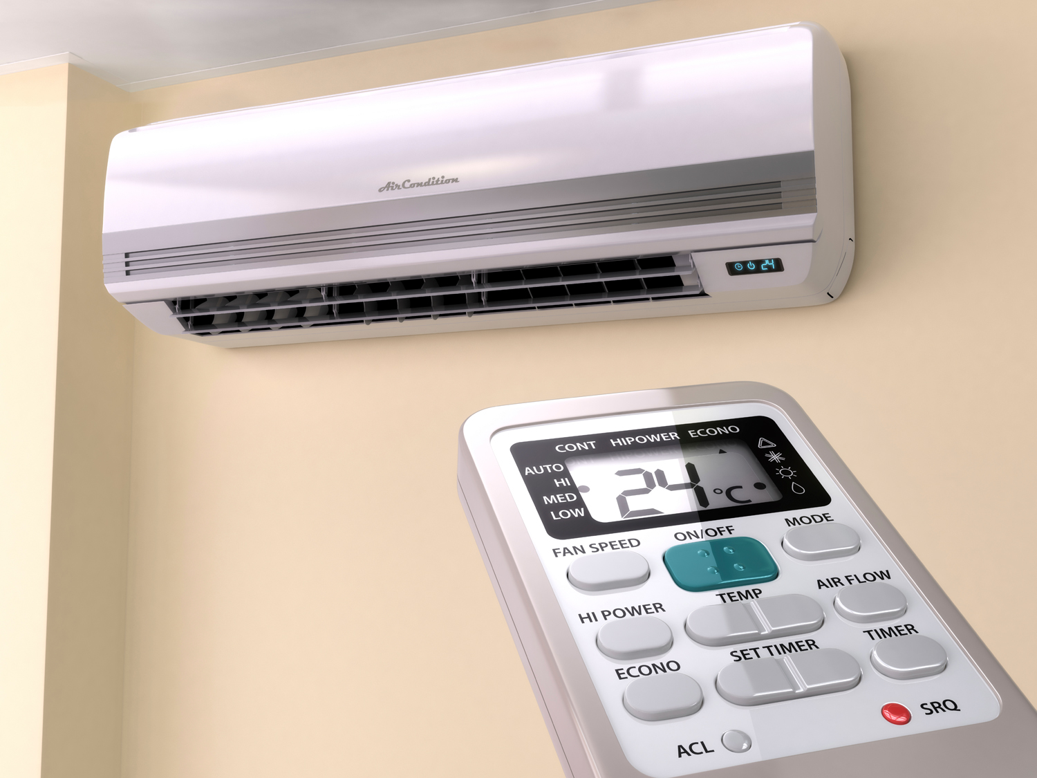 PKS Air Conditioning Unit and Remote Control