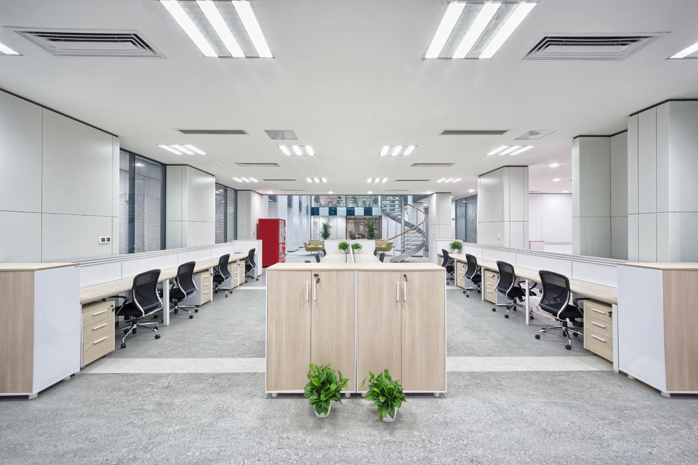 Office Lighting Layout Installation