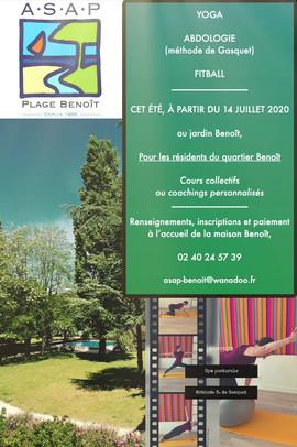 Cours yoga jardin Benoît 2020