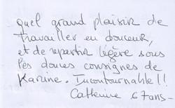 Témoignage Catherine