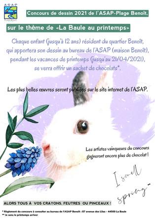 Affiche concours dessin ASAP Plage Benoît