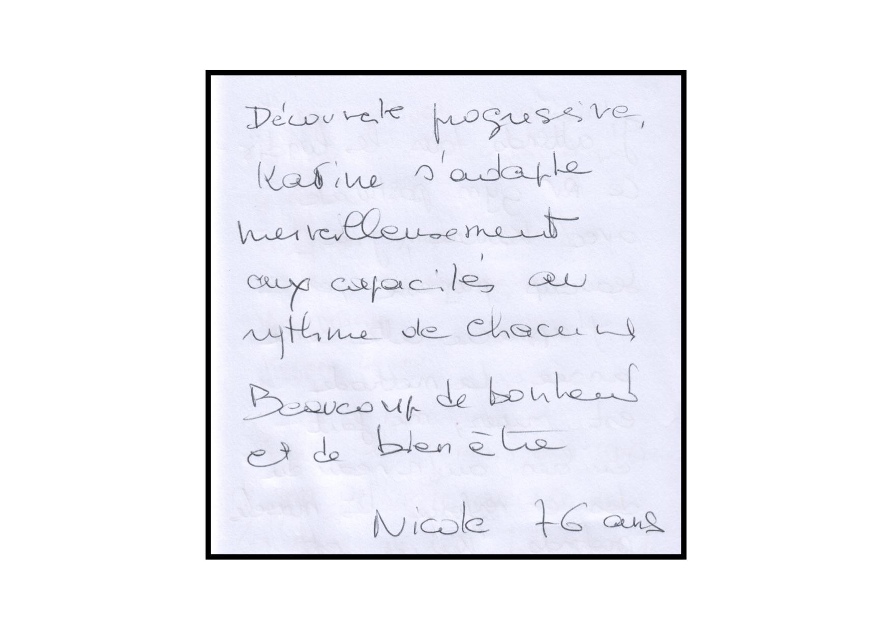Témoignage de Nicole
