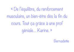 Témoignage de Bernadette