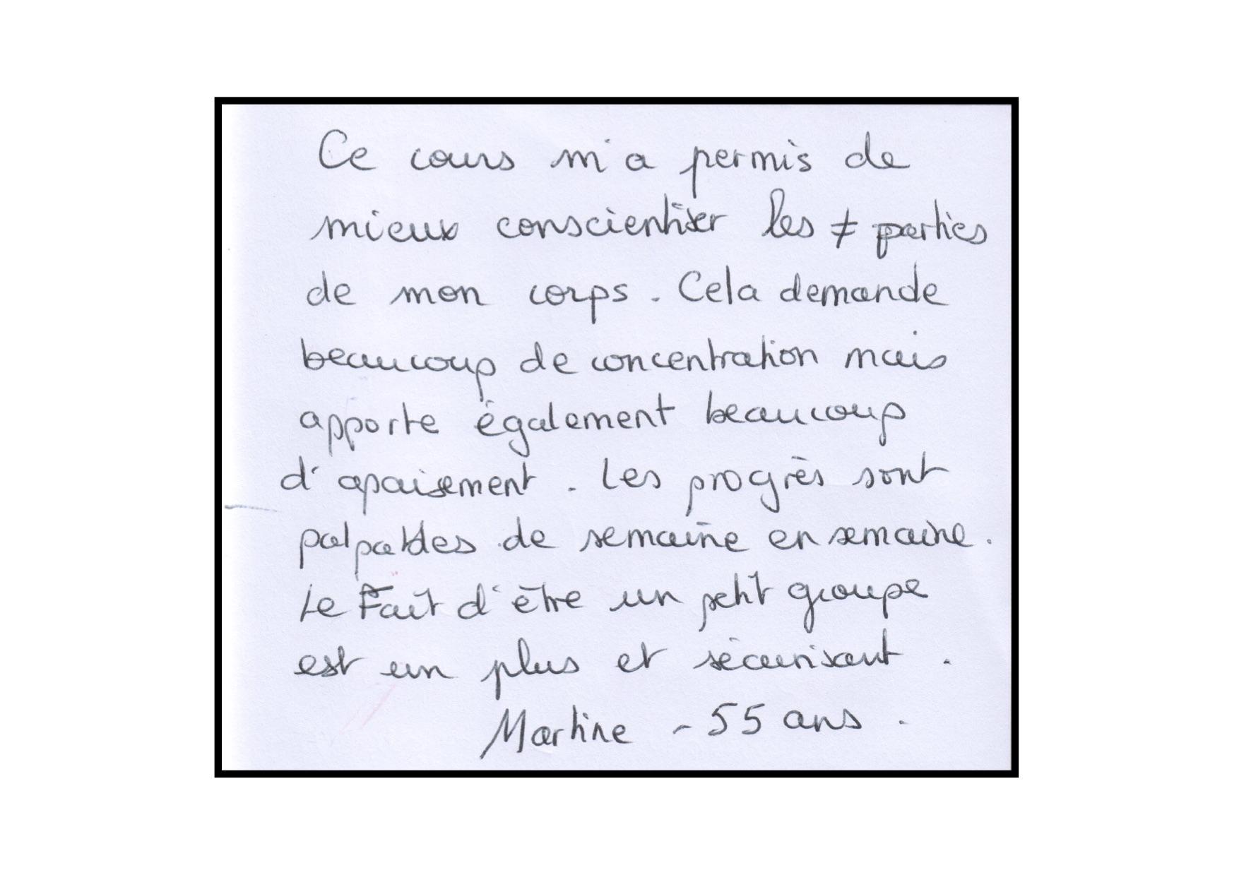 Témoignage de Martine