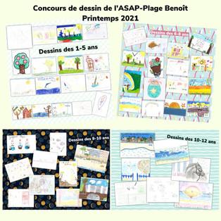 Pêle-mêle dessins concours ASAP Plage Be