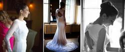 Bridal lace and silk dress