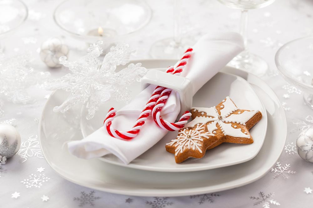 Santa candy as wedding favour on a table decor