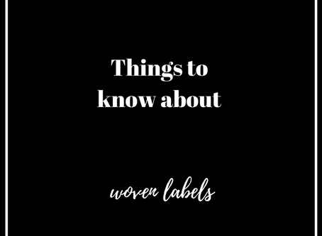 Things to Know About Woven Labels