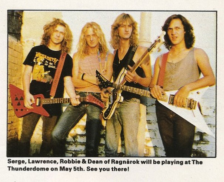 Ragnärok 1989 Promo Shot for Thunderdome Gig, Johannesburg South Africa.