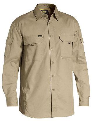 Bisley X AIRFLOW™ Ripstop Shirt Khaki