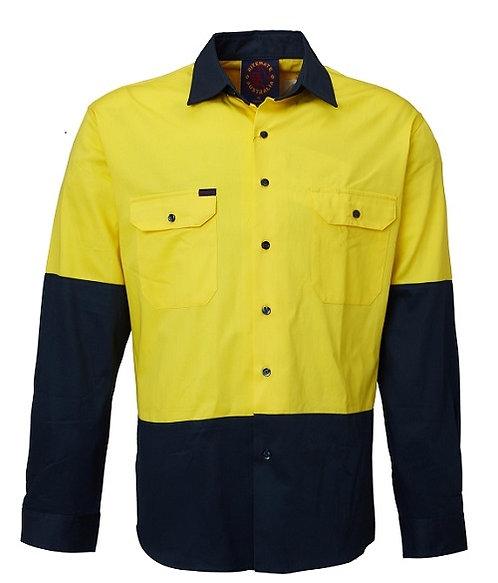 2 Tone Long Sleeve Work Shirt