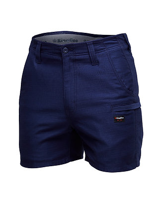 King Gee Pro Stretch Ripstop Short Shorts Navy