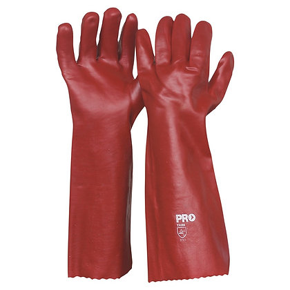 45cm Red PVC Gloves Large